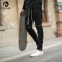 Hip Hop Fashion männer Hosen Justin Bieber Harem mit Reißverschlüssen Kanye Tiefem Schritt Hosen Herren Jogger Schwarz KHAKI Grün
