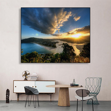 Abstract Mountain Cloud Green Trees Sunshine Oil Painting Unique Gift Home Living Room Bedroom Decor Wall Art Picture No Frame