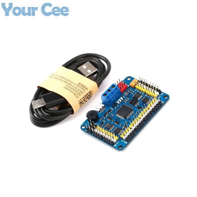 New Version 32 Channel Robot Servo Control Board Servo Motor Controller PS2 Wireless Control USB/UART Connection Mode Числовое программное управление