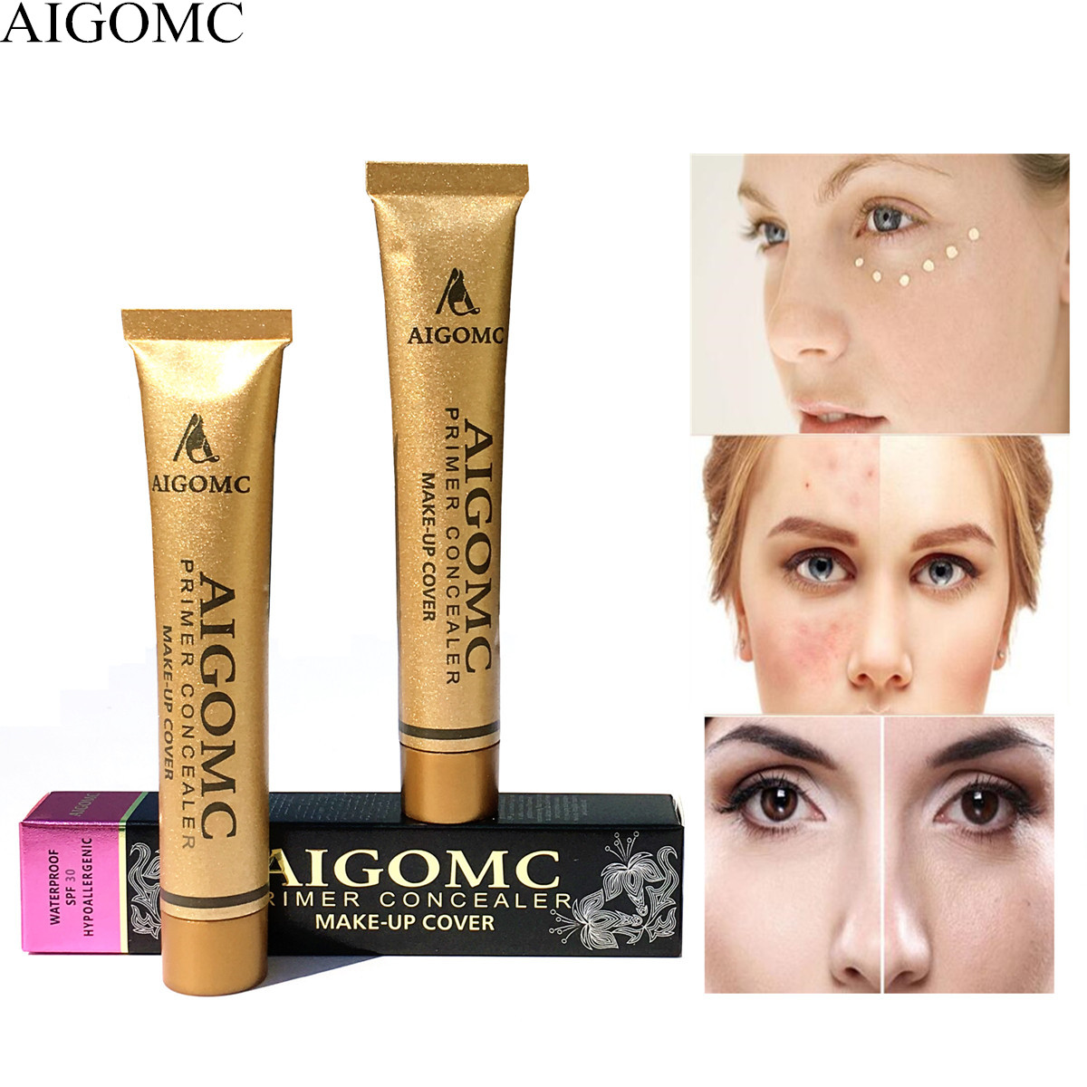 AIGOMC New Hot Sale Makeup 14color Base foundation cover Concealer cream of of the skin blemish face eye concealer(China)