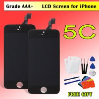 Factory Sale LCD For Iphone 5 5c 5s Screen Display Part Front Glass Touch Panel Digitizer Assembly Complete Free Tools Repair
