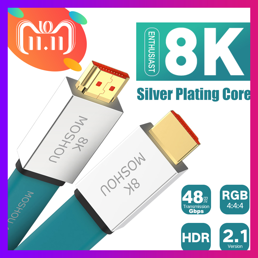 лучшая цена Enthusiast HDMI 2.1 Cable Ultra-HD (UHD) 8K@120Hz HDMI 2.1 Cable 48Gbs Male to Male Audio Video Cable 1M 2M 5M 10M 15M HDR 4:4:4