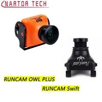 Nuovo Arrivo RunCam GUFO PIÙ 700TVL 150 Grandangolo e RUNCAM Swift 600TVL 2.8mm Fotocamera FOV 90 Wide Angle PAL e NTSC