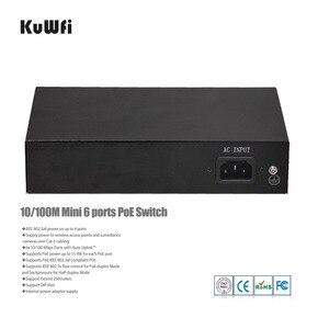 Image 4 - Switch di rete Ethernet a 4 porte a 2 porte con 4 porte POE e 2 Uplink Ethernet IEEE 802.3af supporto MDI/MDIX estendere 250 metri