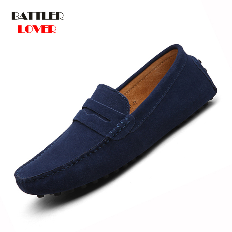 Shoes Men Loafers Moccasin Genuine Leather Gommino Male Footwear Slip On Flat Driving Boat Shoes Classical Chaussure Homme 38-49