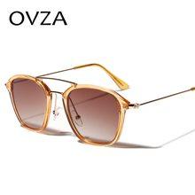 4fa343de9 OVZA مستطيل النظارات الشمسية رجل أزياء النساء مكبرة جميلة شفافة إطار نظارات  العلامة التجارية مصممة gafas دي سول S8020