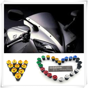 2018 motorcycle Windshield Windscreen Fastener Spike Bolts kit Screw Nuts for SUZUKI GSXR1000 GSXR600 Kawasaki NINJA 650R ER6F image
