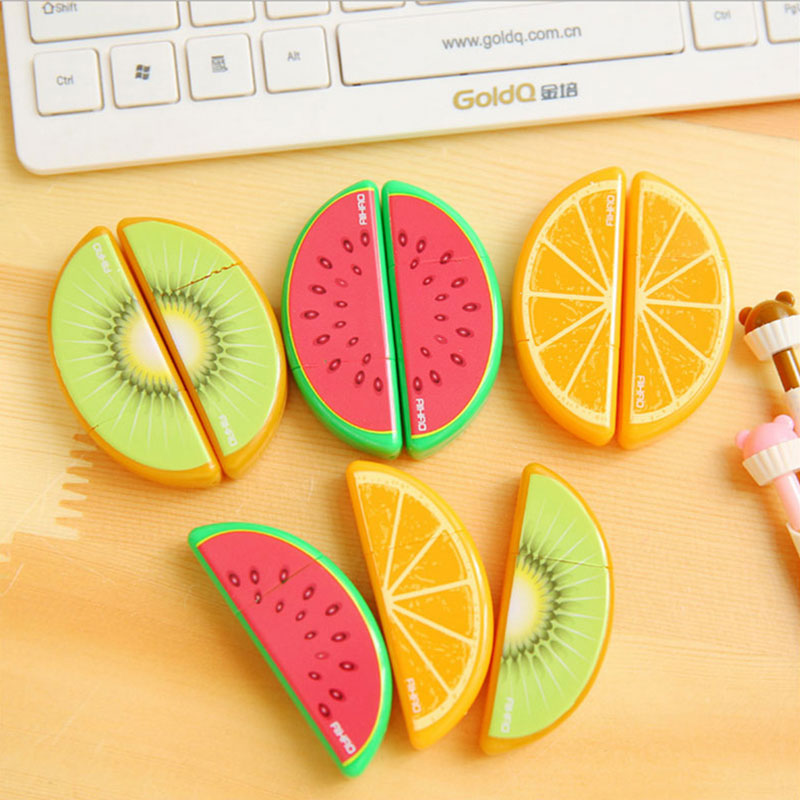 2pcs/Lot creative fruit correction tape material escolar Stu