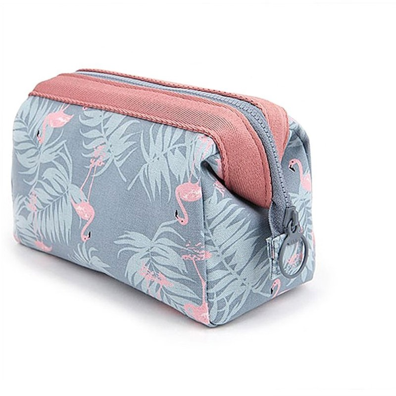 Fashion Flamingo Cosmetic Bag Women Travel Function Makeup Bag Organizer Case Beauty Necessary Make Up Storage Wash Kit Box 2017 women multi function storage cosmetic bags box jewelry display case travel purse wash makeup bag beauty case