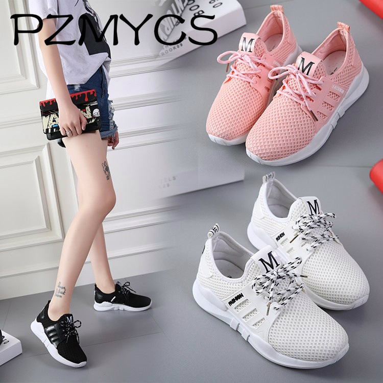 PZMYCS Women Sneakers Light Weight 2018 41 Woman Casual Shoes Slip On Lazy Shoes Comfortable Candy Color Breathable Net Shoe swyivy women sneakers light weight 2018 41 woman casual shoes slip on lazy shoes comfortable candy color breathable net shoe