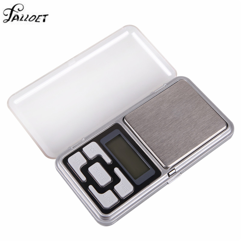 200g x 0.01g LCD Display Mini Digital Scale Jewelry Pocket Balance Weight with Blue Backlight Precise Weighing Scale Libra
