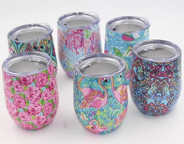 Colorful Patterned Stainless Steel Cup