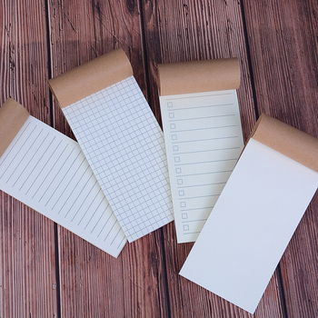 Hot Sale! Vintage Kraft Paper Notebook Blank Grid Todo Notepad Diary Journal Traveler's Refill Planner Filler Paper image