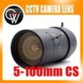 """Novo 5-100mm CS Lente F1.8 1/3 """"zoom Varifocal Manual Iris lente zoom para Câmera de CCTV Segurança"""