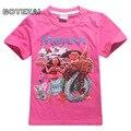 2017 Summer girls MOAMA ocean romantic boy T-shirt children's T-shirt short-sleeved boy cartoon T-shirt male and female baby car