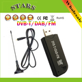DAB FM USB DVB-T RTL-SDR RTL2832 R820T SDR Dongle Vara TV Digital Tuner Receiver IR Remoto com Antena, Dropshipping