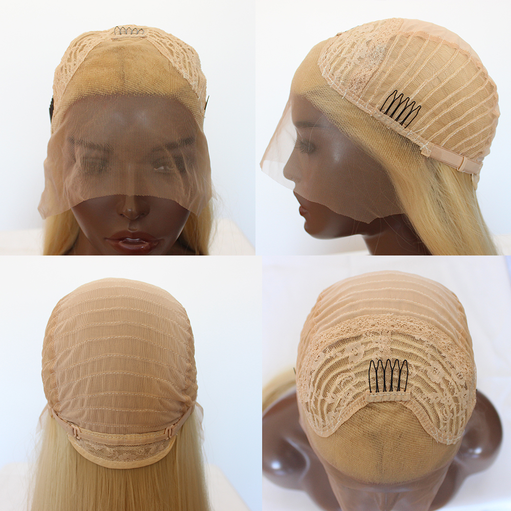 Image 5 - Maycaur Blonde Hair Lace Front Wigs Long Straight Color 613# Synthetic Lace Wigs-in Synthetic Lace Wigs from Hair Extensions & Wigs