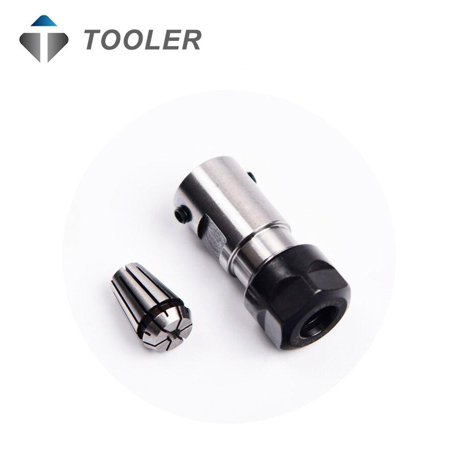 Haste do eixo do motor braçadeira C16 ER11 35L 5 milímetros eixo do motor alongada de aperto máquina de gravação faca conjunto de broca
