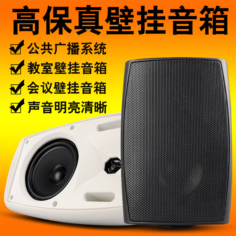 High Fidelity Wall Hanging Rotatable Speakers For Campus