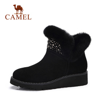 CAMEL 2018 Women Boots Shoes Winter Fashion Platform Snow Boots Shoes Women Solid Keep Warm Furry Shoe For Ladies