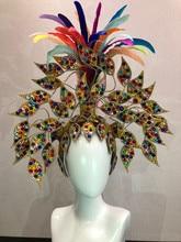 Brazil Rio Spanish Cuba Santiago Havana Venice Dionysia carnival Float Mask dress masque ball costume samba plumage plume Headd