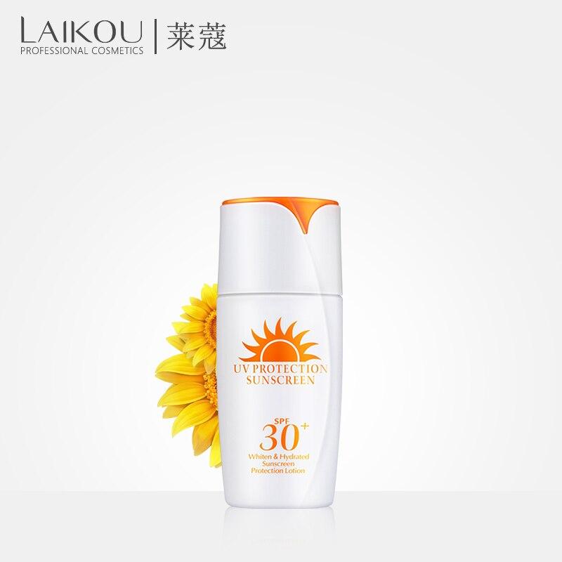 Marque LAIKOU PA + SPF30 Visage Corps Crème Solaire Crème Solaire Isolation Anti UV Protection Blanchiment mositurizing Cosmétiques