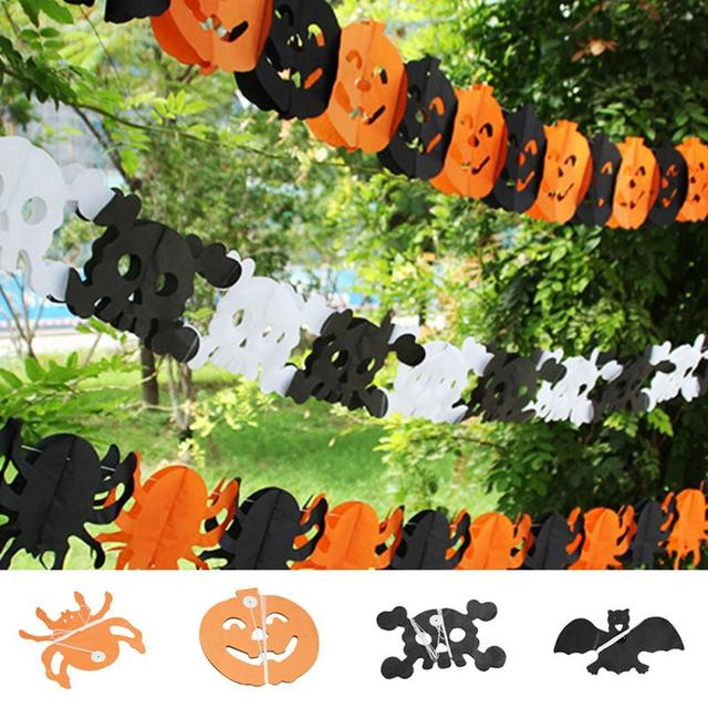 halloween garland decorations pumpkin bat ghost spider skull shape halloween decor wholesale for holiday