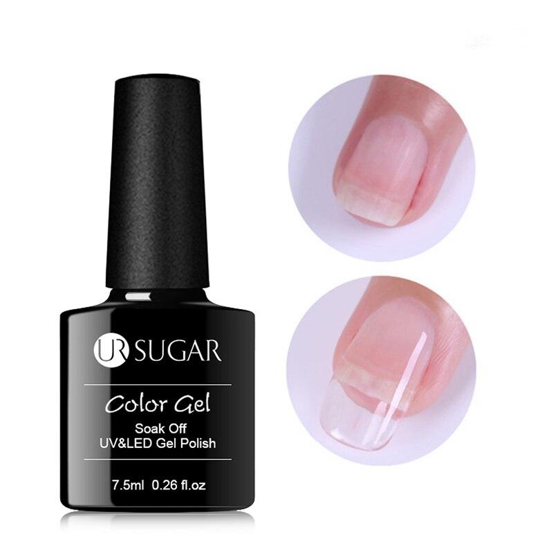 Ur sugar, gel de extensão rápida 7.5ml, pontas de unha rosa transparente, construtor uv, extensor de unhas em gel gel para gel