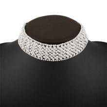 BK Women Originality Necklaces Coverd With Diamonds Short Fashion Torques Female Imitation Gold Ornaments Trendy Necklaces