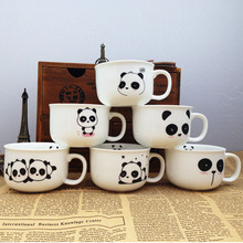 Cute Panda Ceramic Mug White Multi Style Cup Fresh Creative Cartoon Lovely Dessert Cup of Coffee Mug Milk Cup