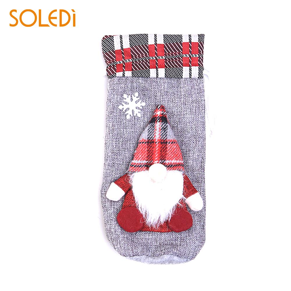 Santa Claus Doll Red Wine Suit Wine Bottle Bag Champagne Bottle Cover Cute Fashion Dinner Table Champagne Package