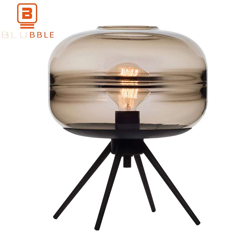 BLUBBLE Post-modern Table Lamp Originality LED Bulb Alcohol Desk Lamp AC 90-260V Glass Bedroom Study Bedside Lamp With Bracket north european style retro minimalist modern industrial wood desk lamp bedroom study desk lamp bedside lamp