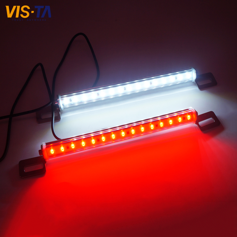 New Arrival 1PC White and Red Car LED License Plate Light 5630 SMD Car DC 12V LED License Plate Singal Parking Light Wholesale smaart v 7 new license