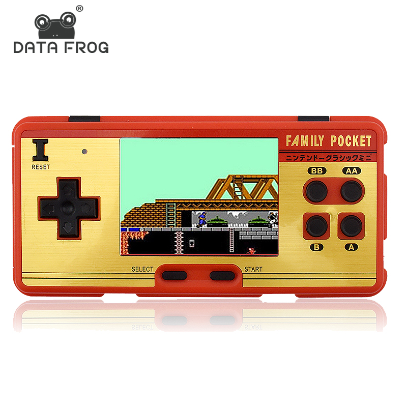 Data Frog Portable Handheld Game Players Built in 638 Classic Games Console 8 Bit Retro Video Game For Gift Support AV Out Put