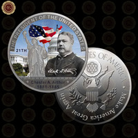 WR Vintage Decor American President Coin Quality Silver Coin The 21th President Chester A Arthur Gift Coin Value Collection
