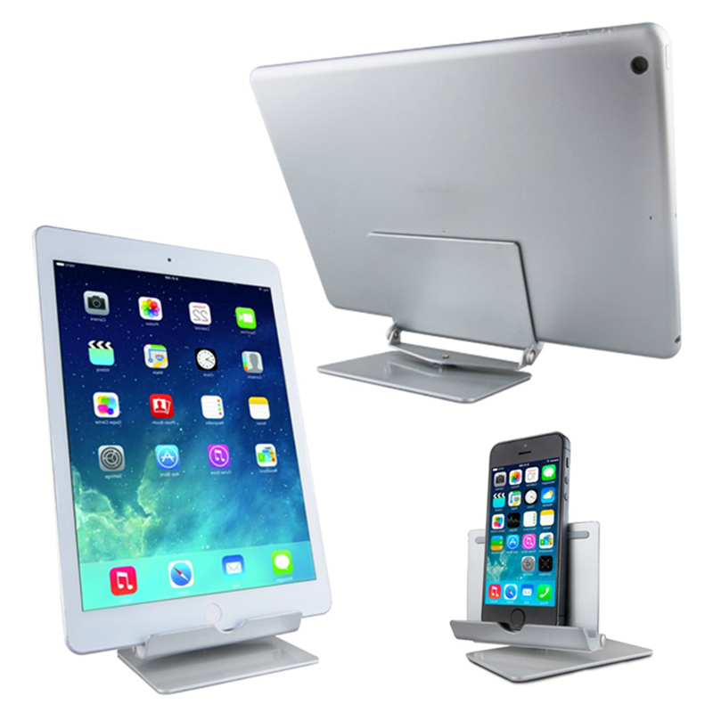 high quality Universal Adjustable Mobile Phone Stand Desk Holder for iphone6 6s plus samsung Flatbed Bracket tablet For iPad 2 3