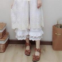Винтажные свободные штаны для девочек в стиле леса, повседневные женские штаны с эластичной резинкой на талии в стиле ретро, брюки размера плюс, штаны длиной до щиколотки 1189