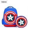 TMBOD Diosa Unido Moda de dibujos animados lindo Capitán América para niños mochilas de nylon portable para viaje, datement, compras. y208