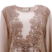 YTL Plus Size Womens Blouse Vintage Spring Autumn Floral Crochet Lace Top Cotton Long Sleeve Tunic Blouse Shirt 6XL 7XL 8XL H025