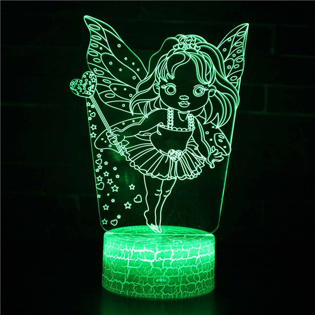 Eye Protective 3D Stereo Vision Lamp Acrylic 7 Colors Changing USB Bedroom Bedside Night Light Desk Lamp Best Gifts
