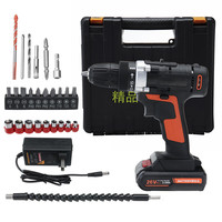 Doersupp 26V Electric Screwdriver Cordless Drill Impact Drill Mini Wireless Power Tools With Lithium Battery 2 Speed