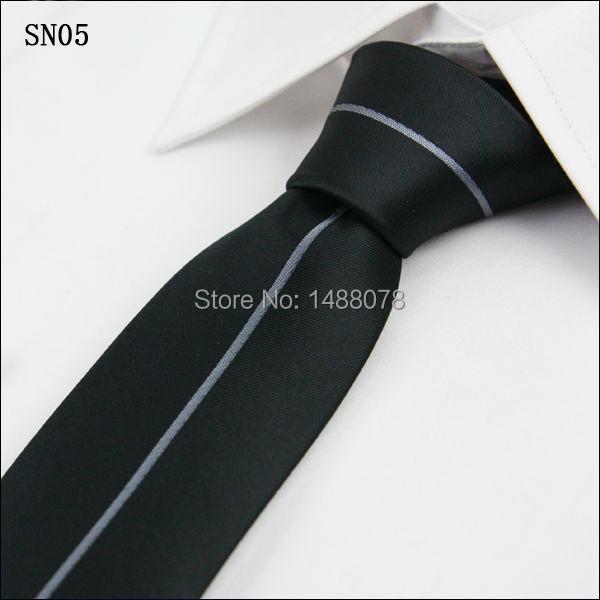 Gray Striped Black Ties 2M8-4