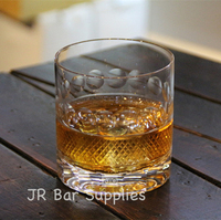 Free Shipping 4PCS Old Fashioned Whiskey Glasses Excellent For Cocktail Bourbon Rocks Glassware 380ml Barware