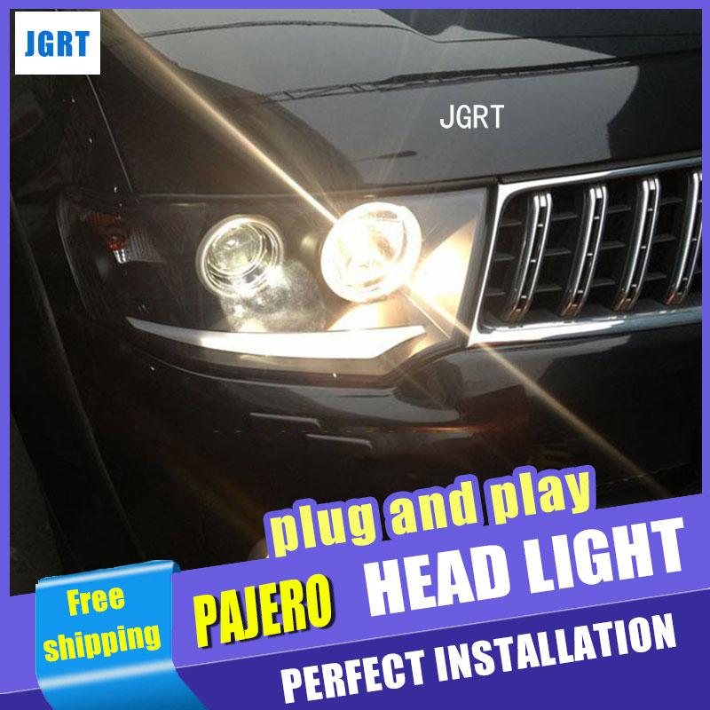 Стайлинга автомобилей для сборки Мицубиси Паджеро фара 2000-2012 Паджеро личности v73 светодиодный фары сигнала поворота ДХО Н7 с HID комплект 2 шт.