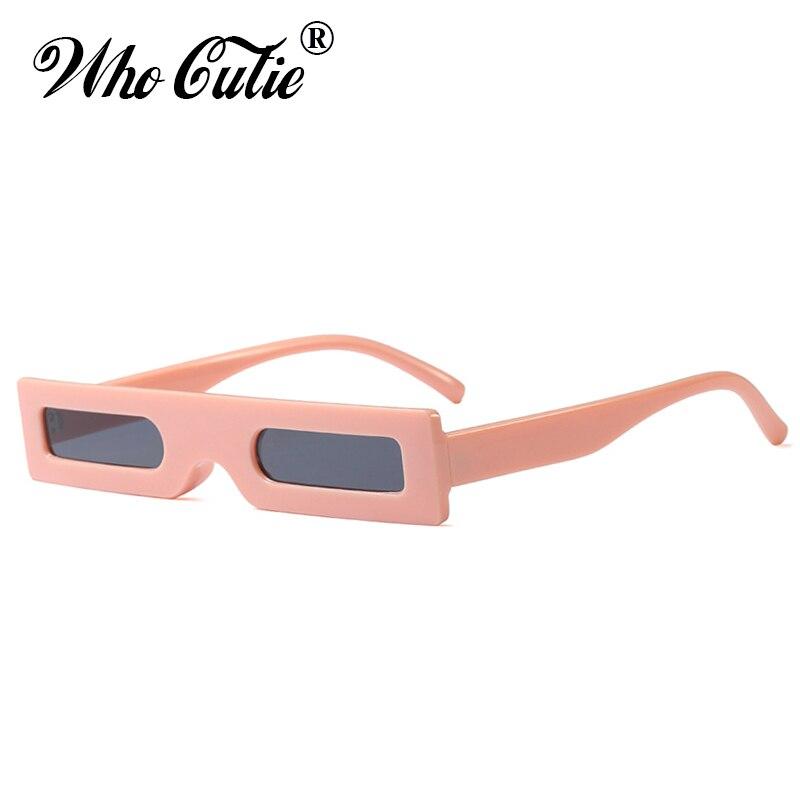 , Die Cutie 2018 Schmale Dünne Rechteck Sonnenbrille Frauen Marke Designer Männer Retro Vintage Dicken Rechteckigen Rahmen Sonnenbrille 597