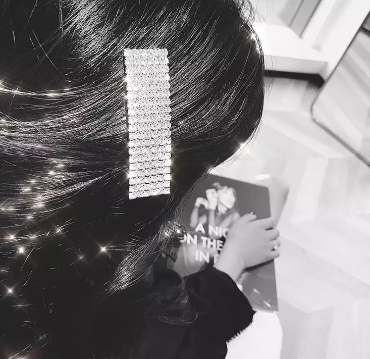 Crystal Rhinestones Hair Clips Leopard Acrylic Hairpin Hair Accessories For Women Letters Hairgrip Headwear G0303 in Hair Clips Pins from Beauty Health