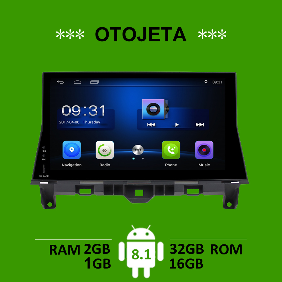 OTOJETA car accessories for Honda <font><b>Accord</b></font> 8th <font><b>2008</b></font> radio <font><b>gps</b></font> navigation android 8.1 stereo bluetooth tape recorder carplay player image