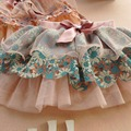 Cute Baby Kids Girl Bow Floral Layered Skirt Tulle Tutu Skirts Child Clothing Girls Skirts