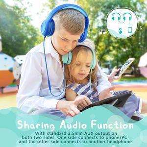 Image 5 - Mpow CH6 auriculares con cable para niños, Material de grado alimenticio, volumen limitado de 85dB, con puerto AUX de 3,5mm, para MP3, MP4, PC, ordenadores portátiles