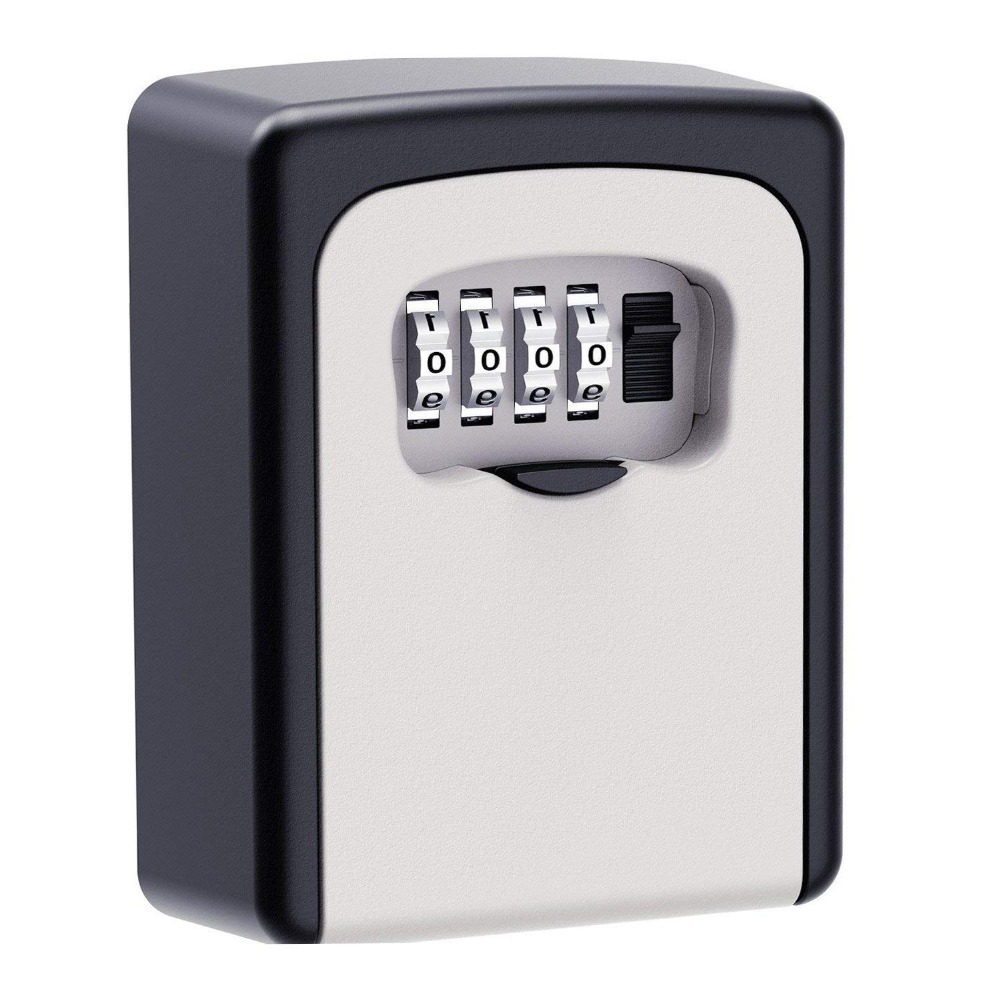 Key Lock Box, House Key Storage Lock Box with 4 Digits